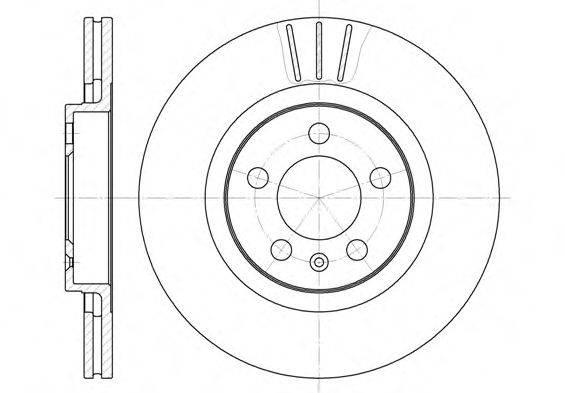 ROADHOUSE 654610 Тормозной диск