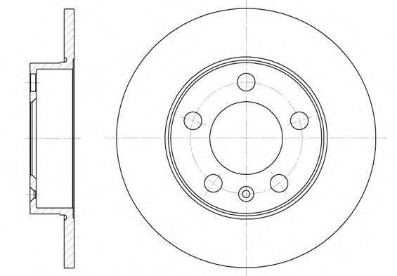 ROADHOUSE 654700 Тормозной диск