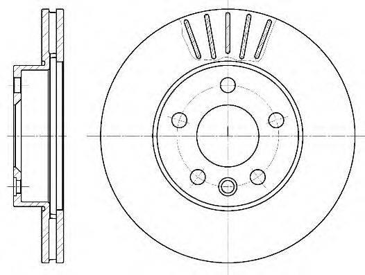 ROADHOUSE 655110 Тормозной диск