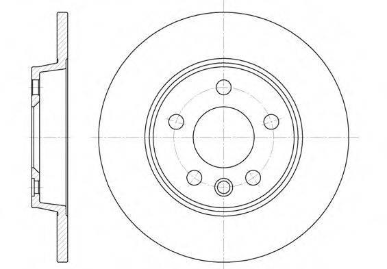 ROADHOUSE 655800 Тормозной диск