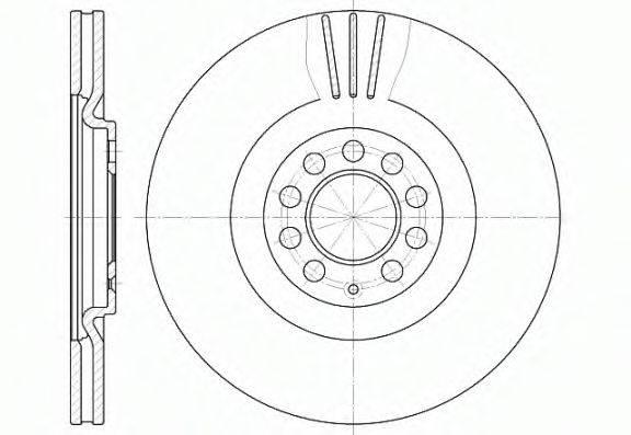 ROADHOUSE 659710 Тормозной диск