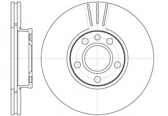 ROADHOUSE 666010 Тормозной диск