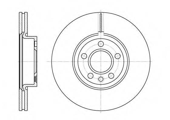 ROADHOUSE 672810 Тормозной диск