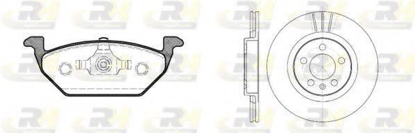 ROADHOUSE 863300 Комплект тормозов, дисковый тормозной механизм