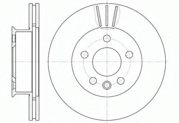 REMSA 641610 Тормозной диск