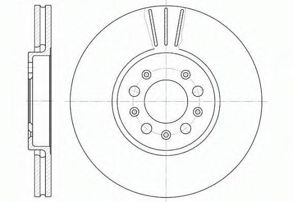 REMSA 654410 Тормозной диск