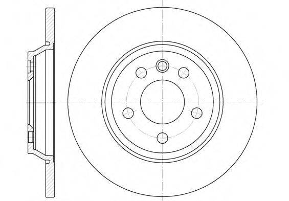 REMSA 665900 Тормозной диск
