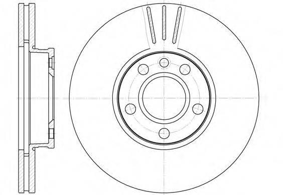REMSA 666010 Тормозной диск