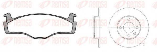 REMSA 817103 Комплект тормозов, дисковый тормозной механизм