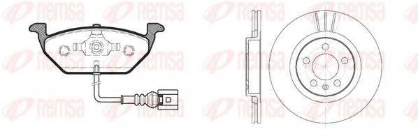 REMSA 863301 Комплект тормозов, дисковый тормозной механизм
