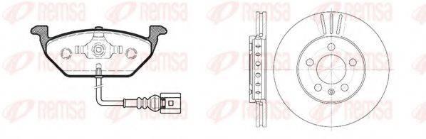 REMSA 863309 Комплект тормозов, дисковый тормозной механизм