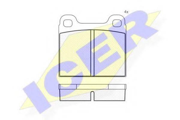 ICER 180221 Тормозные колодки