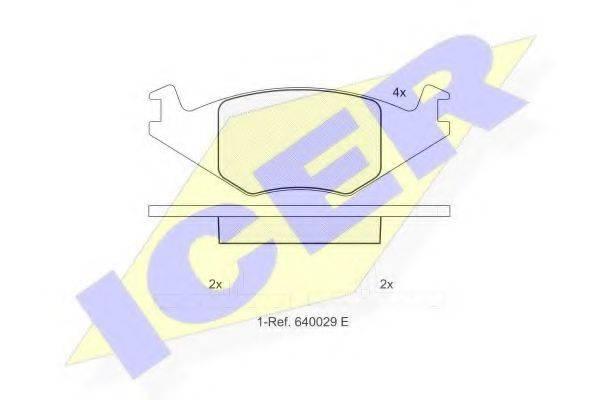 ICER 180461 Тормозные колодки