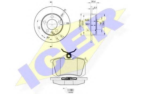 ICER 306975601 Комплект тормозов, дисковый тормозной механизм