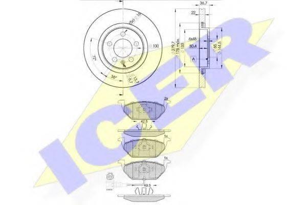 ICER 313495603 Комплект тормозов, дисковый тормозной механизм