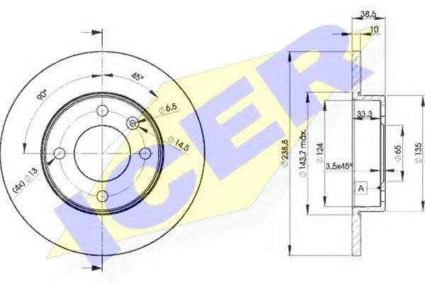 ICER 78BD33252 Тормозной диск
