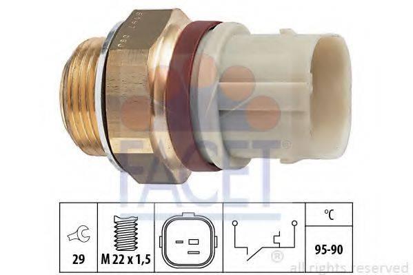 FACET 75197 Термовыключатель, вентилятор радиатора