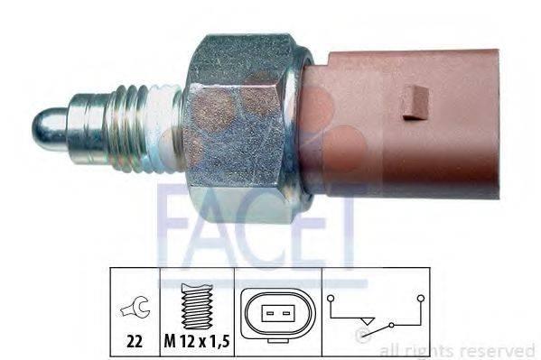 FACET 76266 Выключатель, фара заднего хода