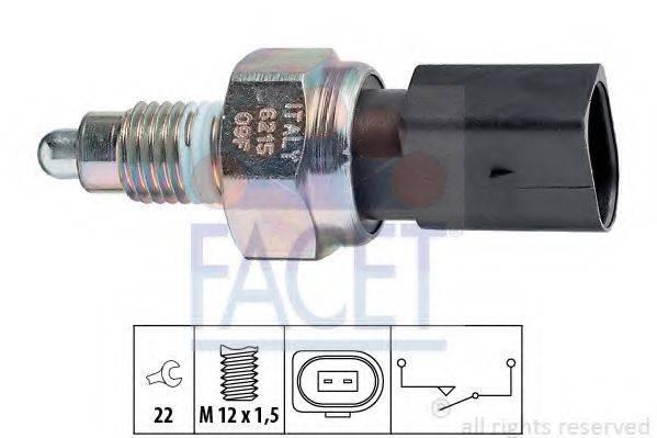 FACET 76215 Выключатель, фара заднего хода