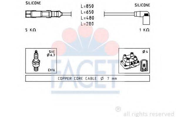 FACET 47223 Комплект проводов зажигания