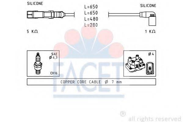 FACET 49585 Комплект проводов зажигания