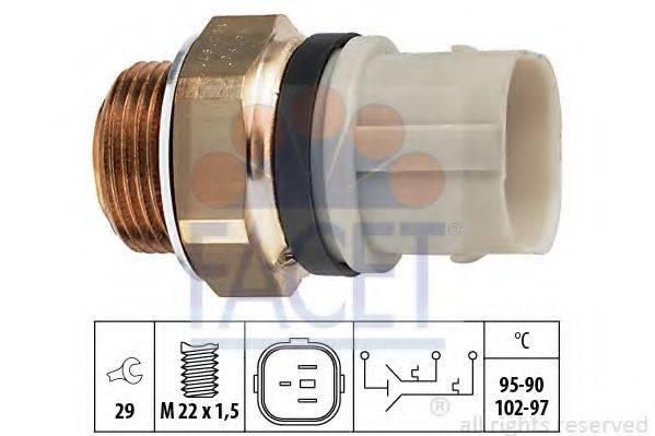 FACET 75652 Термовыключатель, вентилятор радиатора