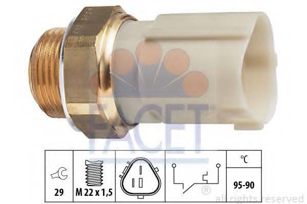 FACET 75262 Термовыключатель, вентилятор радиатора