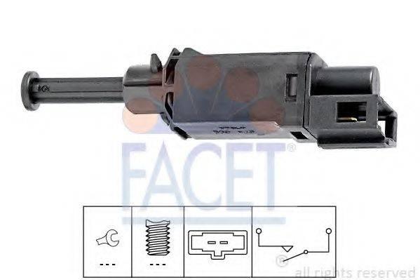 FACET 71143 Выключатель, привод сцепления (Tempomat)