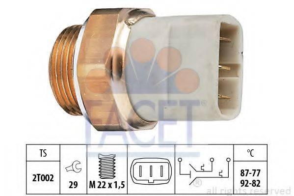 FACET 75626 Термовыключатель, вентилятор радиатора