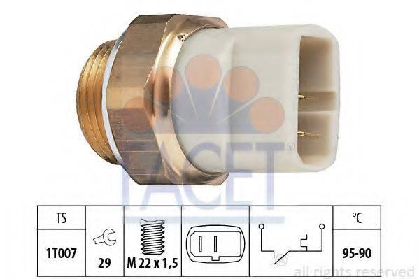 FACET 75027 Термовыключатель, вентилятор радиатора