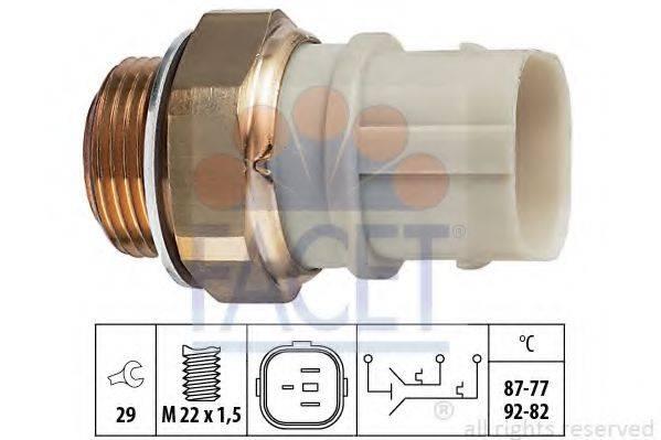FACET 75651 Термовыключатель, вентилятор радиатора