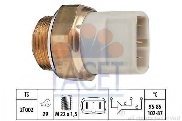 FACET 75605 Термовыключатель, вентилятор радиатора