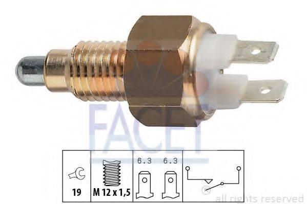 FACET 76009 Выключатель, фара заднего хода