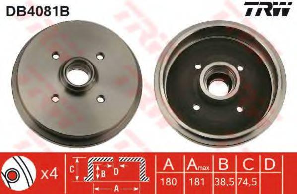 TRW DB4081B Тормозной барабан