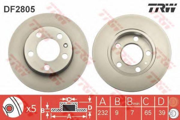 TRW DF2805 Тормозной диск
