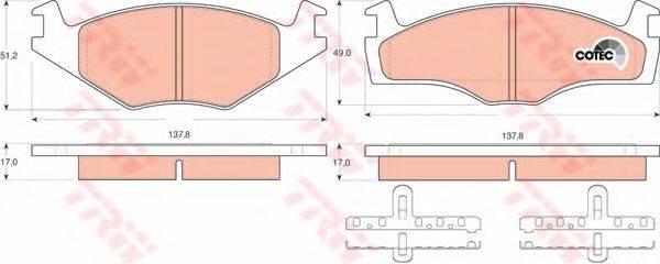 TRW GDB1219 Тормозные колодки
