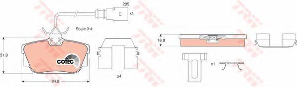 TRW GDB1369 Тормозные колодки