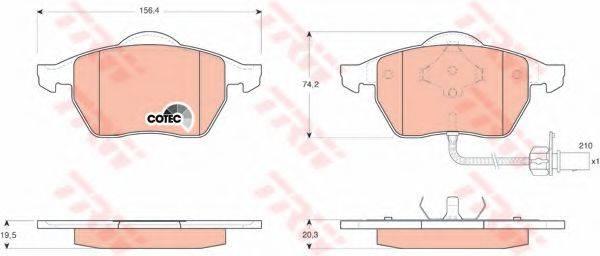 TRW GDB1440 Тормозные колодки