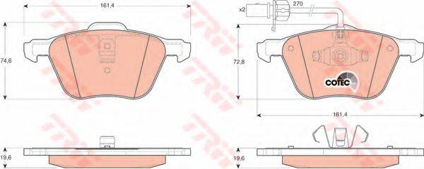 TRW GDB1460 Тормозные колодки