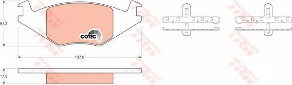 TRW GDB463 Тормозные колодки