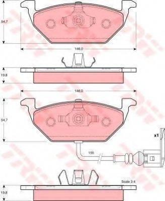 TRW GTD1119 Комплект тормозов, дисковый тормозной механизм