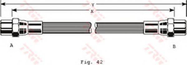 TRW PHA106 Тормозной шланг