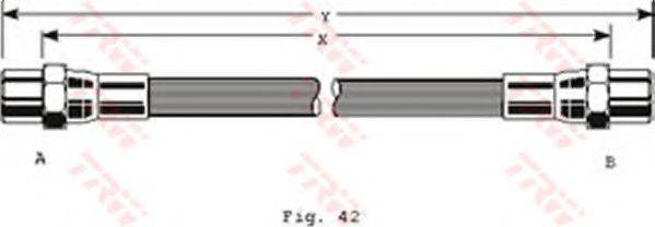 TRW PHA119 Тормозной шланг