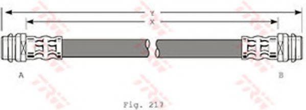 TRW PHA341 Тормозной шланг
