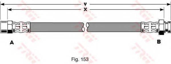 TRW PHA345 Тормозной шланг