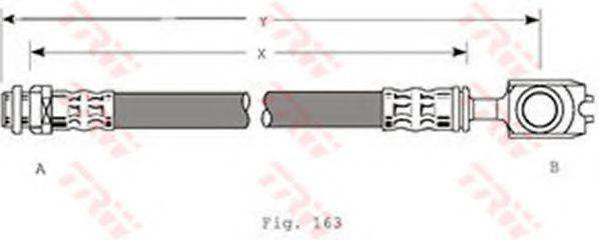 TRW PHD349 Тормозной шланг