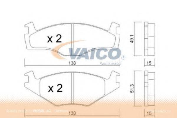 VAICO V1081001 Тормозные колодки