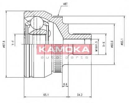 KAMOKA 7050 ШРУС с пыльником