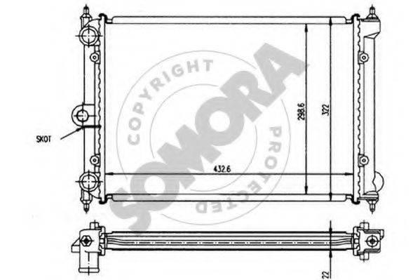 SOMORA 355140 Радиатор охлаждения двигателя