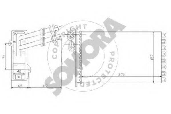 SOMORA 350950 Радиатор печки